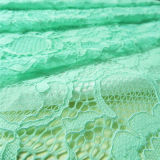 Dentelle en tissu de crochet africaine vert extensible (NF1006)