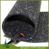体操の適性のための8mmの黒いゴム製フロアーリング