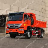 Sinotruk 쓰레기꾼 화물 자동차 팁 주는 사람 덤프 트럭을 기울이는 새로운 황하 4X2 자동적인 작은 가벼운 의무 소형 화물