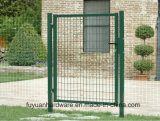 Het euro Groene Poeder bedekte de Dubbele Poort van de Omheining van de Tuin met een laag