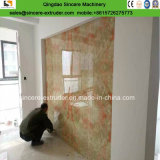Hoja de mármol artificial del PVC/máquina de piedra de la protuberancia del panel