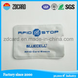 Luva impermeável popular do cartão do suporte de cartão com papel