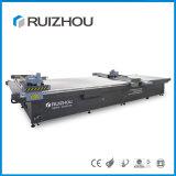 中国の製造者の平面ファブリック革のためのレーザーの打抜き機無し