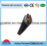 PVC 0.6/1kv a isolé le câble d'alimentation engainé par PVC blindé mince de fil d'acier avec le conducteur de Cu ou d'Al