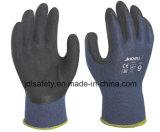 Bambusfaser-Arbeits-Handschuh beschichtet mit schwarzem Latexschaum (L3014)