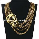 La joyería de moda de verano/ 2013 cadenas ajustable con Metal chapado en oro Flor Collar Collar Gargantilla de la Mujer (PN-088)