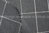 Os fios tingidos T/R Plaid tecido, 63%34%Poliéster Rayon 3%elastano, 245gsm