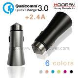 Fast Chargering Dual Universal USB Cargador de coche con Qualcomm 3.0
