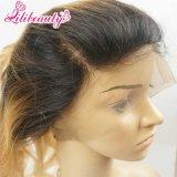 360 Frontals pieni del merletto di Ombre #27 Malesia del merletto alla rinfusa biondo frontale dei capelli umani