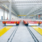 Carrello automatizzato su rotaie di trasferimento utilizzato nella fabbrica d'acciaio del tubo