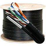 Os cabos da antena de fio de Queda do cabo de rede