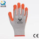 Покрынная ладонь, ровные перчатки латекса L017 работы отделки
