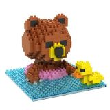 280 PiecesのABS Animal Shape Puzzle Mini Blocks