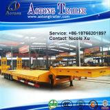 무거운 기계 및 무거운 화물 수송기 낮은 반 침대 트레일러 50-120 톤