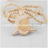 Joyería de moda de verano de 2013 Hecho a mano Collar de rebordeado// Forma de tiburón collares de madera de madera para Niños Los niños y niñas (PN-041)