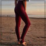 Верхнюю часть продаж похудение красный Йога Leggings сухой установите женщина спортзал одежды