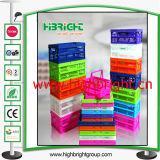 プラスチック多彩なFoldableギフトの昇進の小型木枠ボックス