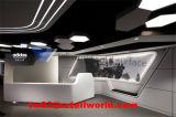 Mesa de recepção de móveis de salão de beleza de pedra artificial para venda
