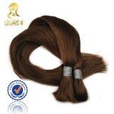 도매 인도 머리 긴 대량 브라운 색깔 100% 사람의 모발 연장
