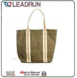 Sacchetto di acquisto non tessuto di carta della maniglia della tela di canapa del cotone del sacchetto di acquisto del regalo (X010)