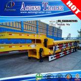 2 de Lage Flatbed Semi Aanhangwagen van assen, de Lage Aanhangwagen van de Vrachtwagen van de Lader