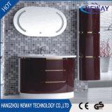 Cabina moderna de la vanidad del cuarto de baño del diseño del espejo del PVC LED