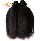 バージンのカンボジアの毛の織り方8Aの加工されていない毛のねじれたまっすぐで自然な織り方