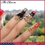 3 PCS/Setの紳士の黒猫の星の釘のリングの一定の方法宝石類