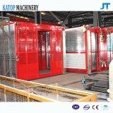 Elevatore della costruzione della gru della costruzione della gabbia del doppio del caricamento di Sc100/100 1t