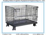 Contenitore di memoria logistico piegante della rete metallica del rullo del carrello del magazzino