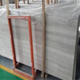 新しい木の白い木製の穀物の大理石の平板