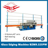 Glass Edging Machine 9 Motor PLC de control de rodamiento de bolas (BZM9.325PW)