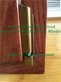 Finestra di alluminio di vetro riflettente della stoffa per tendine, finestra americana della stoffa per tendine di legno di quercia per i clienti della California S.U.A.