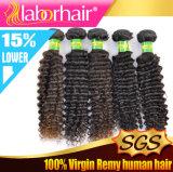 Prolonge crépue Lbh 177 de cheveux humains de Remy de Vierge de Brésilien de l'enroulement 100%