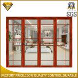 Aluminiumbi-Falten-Tür mit der Doppelverglasung für Fernsehapparat-Raum (60 Serien)