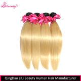100% unverarbeitete Menschenhaar-gerades Haar-Bündel für weiße Frauen