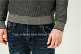 Maglione adatto degli uomini del Knit del collo rotondo speciale del reticolo