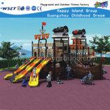 La glissière extérieure de centres de jeu de grandes cours de jeu d'enfants place HD-140A