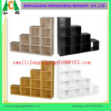 木の記憶装置の立方体2 3 4つの層の強い本箱の棚に置く家庭内オフィスの表示