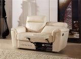 بيضاء لون إيطاليا تصميم جلد [ركلينر] أريكة