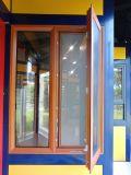 Vers l'extérieur de verre aluminium Ouverture de fenêtres avec moustiquaire