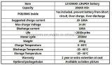 12 voltios 200 batería de coche de la larga vida LiFePO4 de la hora del amperio