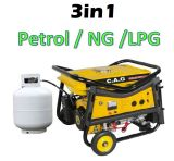 generatore portatile di 2kw 2kVA LPG/Ng/Gasoline/Petrol con le maniglie & le rotelle