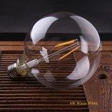 Blanco caliente fresco del LED del filamento del bulbo G125 del estilo retro del globo