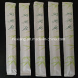 Cubiertos con la manga de madera de bambú Palillos compras por volumen de