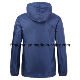 フード付きの通気性の防水ウインドブレイカーのジャケット