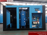 Motor de conversão de freqüência magnética permanente Compressor de ar de parafuso de uma peça