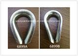装備の頑丈なDIN 6899bの炭素鋼またはステンレス鋼ワイヤーロープの指ぬき