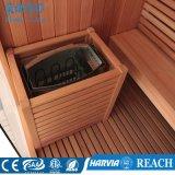 Salle de sauna intérieure à la maison avec bois de cèdre canadien (M-6038)