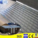 建物の屋根ふきによって電流を通される波形の金属板